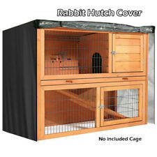 4FT Rabbit Hutch Cover Waterproof Large Double Garden Pet Cage Covers Guinea Pig