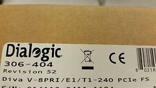 Dialogic Diva V-8PRI/E1/T1-240 PCIe FS - BRAND NEW FACTORY SEALED (306-404)