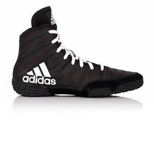 Adidas Varner Mens Black Wrestling Outdoors Sports Shoes Boots