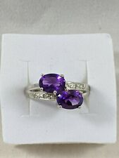 Amethyst Sterling Silver Ring Size 5 1/2