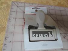 NIP Martha Stewart Edge Punch Christmas CHEERS holiday cards & tags