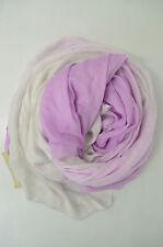 FALIERO SARTI Tuch Schal Seide Fransen Mod. GINÈ Weiß Flieder Violett 140x 195cm