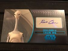 Star Wars Attack Of The Clones 3D Widevision Autograph Card Rena Owen