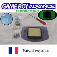 Coque GBA GAME BOY ADVANCE PHOSPHORESCENT NEUF NEW + tournevis - étui shell case