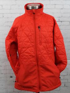 New Burton Womens Ambrosia Soft Shell Snowboard Jacket Small Fiery Red