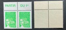 Paire Timbres France 2002 YT 3450. Neuf**. Marianne de Luquet. Marges