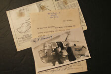 Signed Photo / Letter / Article: GREYHOUND HELICOPTER  Ray Browning Pilot 1947