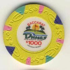 Dunes Casino Las Vegas $1000 Baccarat Chip 1989