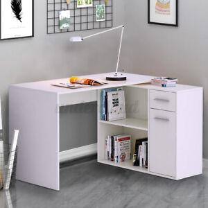 L-Shape Corner Computer Gaming Desk Laptop Table Workstation Study Home Office