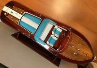 maquette riva bateau Riva Aquarama Crème 120cm entièrement Bois laiton modélisme