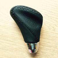 Negro de Aluminio PVC Cuero Imitación Palanca Cambios - Universal 5 o 6