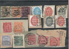 Ungeprüfte Dienstmarken aus dem deutschen Reich mit Briefstück-Erhaltungszustand