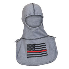 NEW PAC II Rayon Kevlar Hood with Firefighter Support Fire Ink Red Striped Flag