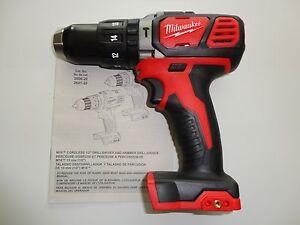 "Milwaukee M18 18V 18 Volt Li-Ion 1/2"" Hammerdrill Driver Tool Only Model 2607-20"