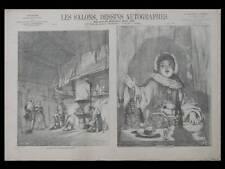 LES SALONS, DESSINS AUTOGRAPHES 1868 PASQUIOU-QUIVORON SMITS ITASSE CORNET