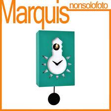 "Orologio a cucù FOSFORESCENTE art.116 ""Nigt & Day"" verde traffico6024 Pirondini"