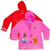 Girls PVC Disney Winnie The Pooh Rain Summer Waterproof Coat Anorak Cagoule NEW