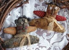 EXTREME PRIMITIVE AMERICANA ANGELS PATTERN!!  QUICK AND EASY!! HOLIDAY EVERYDAY!