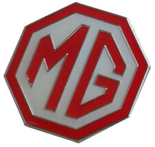 MG octagon lapel pin - Red white large 1 inch size