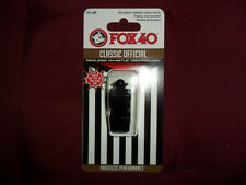 FISCHIETTO ARBITRO FISCHIO FOX 40 NERO ORIGINAL FOX40 BLACK REFREE WHISTLE AIA