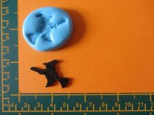 FLYING WITCH Mould Chocolate Cupcakes Sugarcraft Cake Topper  Fimo Cernit Soap