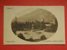 TRENTO Piazza Dante monumento giardino vecchia cartolina