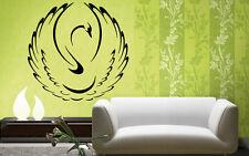 Wall Stickers Vinyl Decal Animal White Black Swan Bird Wall Decor Mural  ig019
