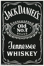 POSTER: BEER & LIQUOR: JACK DANIELS - BLACKLIGHT & FLOCKED    #9042F  RC42 N