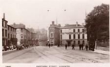 Hertford Street Coventry Temperance Hotel  RP old pc used 1911 WHS Kingsway