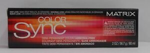 Matrix COLOR SYNC Demi-Permanent Ammonia Free Hair Color ~ Black Box ~ 2 fl oz!!