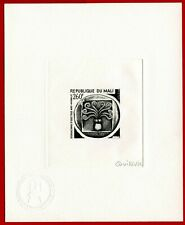 Mali 1975 #247, Artist Signed Die Proof, Didrachma, Ancient Coin, Octopus