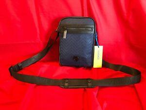 100% AUTHENTIC GIANNI VERSACE (Versace Jeans) Dark Blue Crossbody Bag