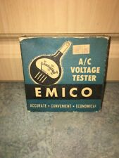 New listing Emico A/C Voltage Tester Meter Model 0-1116 With Original Box, Works