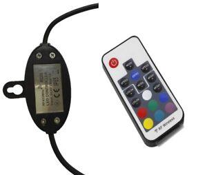 RF RGB LED CONTROLLER + REMOTE (SPARE)