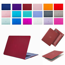 Rubberized Matte Solid Case Cover Shell for Apple MacBook air Pro 11 13 15 inch