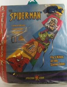 NIP Vintage SPIDERMAN SPIDER-MAN 5 In 1 SPECTRA STAR kite Marvel Comics *E