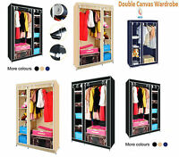 New Best Quality Multiple Colors Double Canvas Wardrobe Hanging Rail Storage