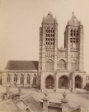 NOYON c. 1890 - 2 Photos  Cathédrale Notre-Dame  Oise  - 27