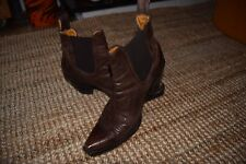 R soles Judy Rothchild woman brown leather ankle boots size UK4