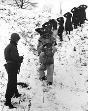 1945 WWII Battle Of The Bulge German Prisoners Of War US Army Photo FL60