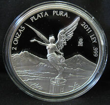 2011 Mexican Libertad 2 oz .999 Silver Round Proof Coin - ONLY 1000 MINTED!!!