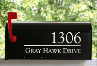 Mailbox Vinyl Decal Personalized Sticker Custom Name and Address Street Number