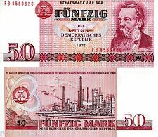 GERMANY EAST (DDR) 50 Marks Banknote World Currency Money BILL p30a 1971 Note