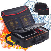 Fireproof Document Bag (14.5 x 11 x 4 inch) with Fireproof Money Bag for Cash