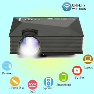 Portable LED Projector WiFi, HDMI, SD Card, AV, USB, HD, WiFi Ready 1200Lumen