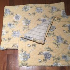 �� 1 or 2 Restoration Hardware Yellow Quilted Floral Standard Pillow Sham Shams
