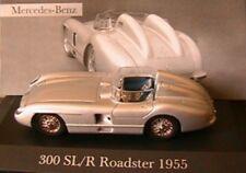 MERCEDES BENZ 300 SL/R ROADSTER 1.8 1955 IXO 1/43 IPOD RACE ALTAYA SILVER SILBER
