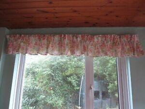 "Pretty floral Laura Ashley material pelmet pinks 11 ""w/76"" l but  will go longer"