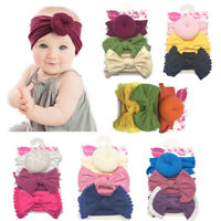 3PCS Kid Baby Headband Toddler Lace Bow Flower Hair Band Accessories Headwear UK