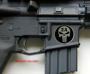 """3D Metal 2nd Amendment Rifle Gun Sticker Emblem NRA Decal 1.25"""""""